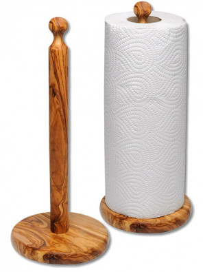 Küchenrollenständer Olivenholz, Höhe ca. 30 cm, Ø ca. 11,5 cm, Art. Nr. 14137