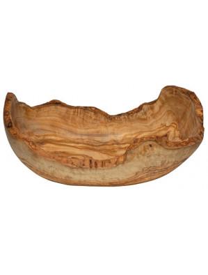 Obstschale oval länglich, Olivenholz, ca. 24 x 16 cm, Art. Nr. 14213