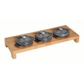 Staub - Servierbrett Bambus für 3 runde Mini Cocottes, 40510-299 / 1190698