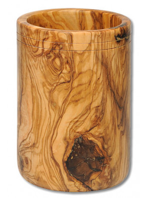 Köcher groß Olivenholz, ca. 10 x 15 cm, Art. Nr. 14214
